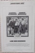 Law and Disorder, Original Pressbook, Ernest Borgnine, Carroll O'Connor, '74